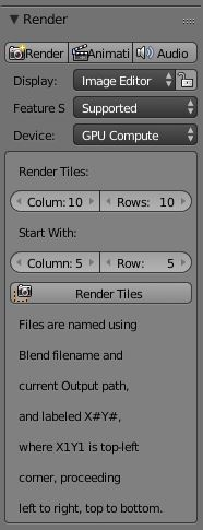 image tile script: Blender Add-on