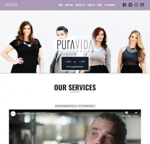 Web Design: puravidasalon.com